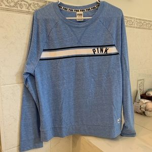 Victoria Secret PINK blue sweatshirt size small